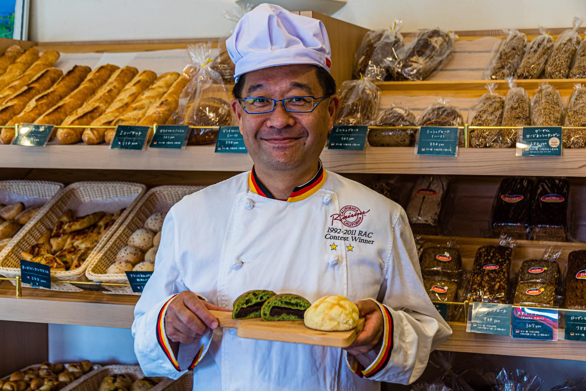 Japanese baker presents German pastries in Izunokuni, Japan