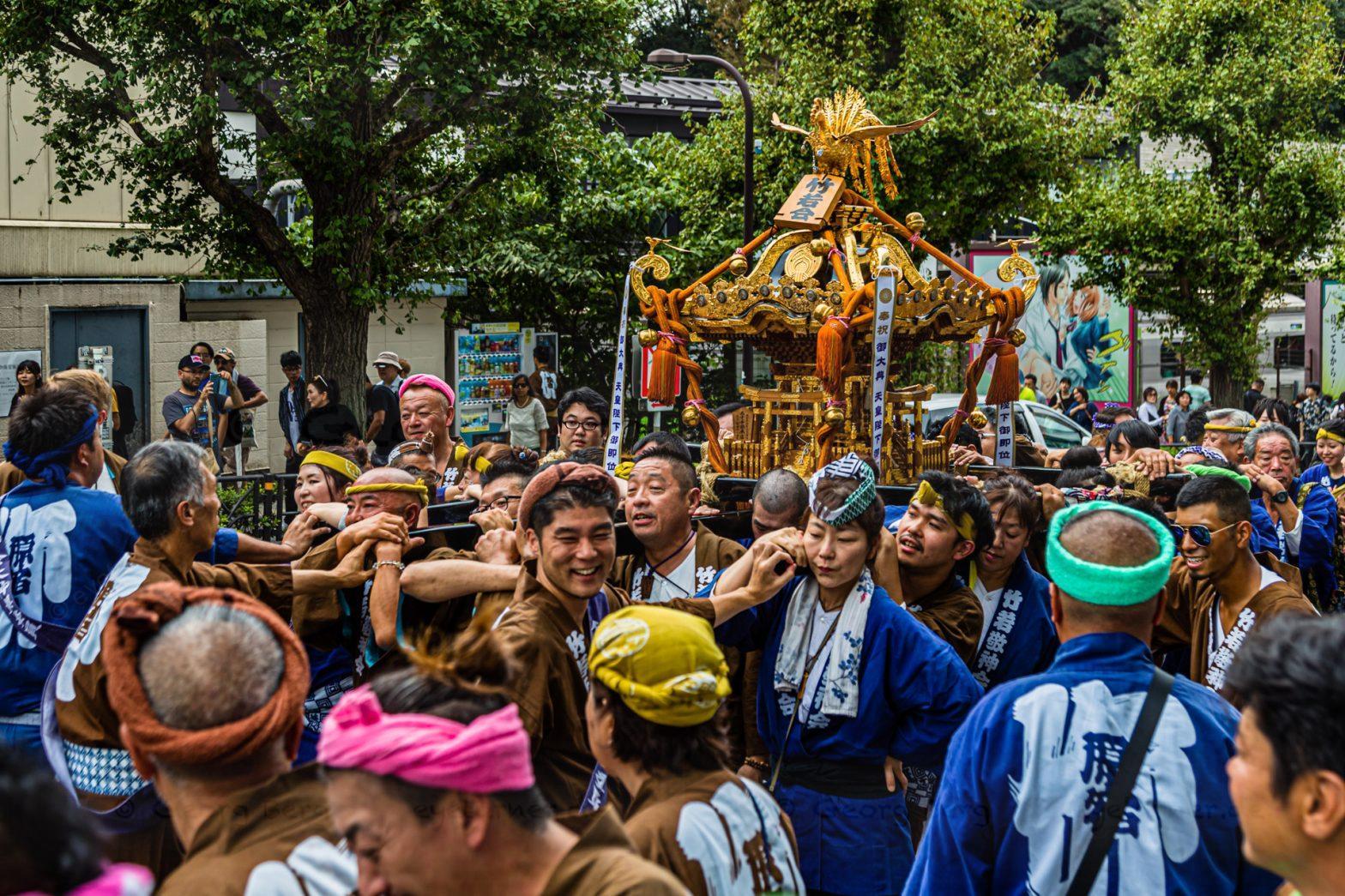 Omikoshi Nezu Shrine Festival in Tokyo