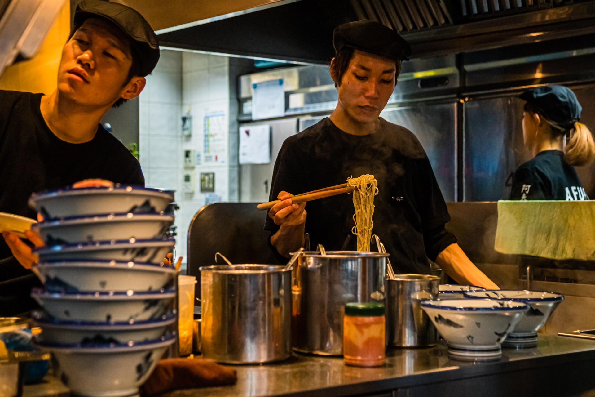 Ramen restaurant in Tokyo, Shibuya, Japan